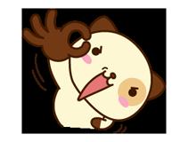 पांडा कुत्ता स्टीकर 3