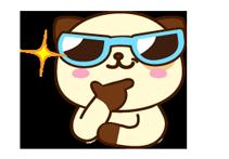 पांडा कुत्ता स्टीकर 10