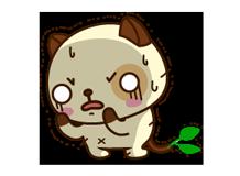 पांडा कुत्ता स्टीकर 26