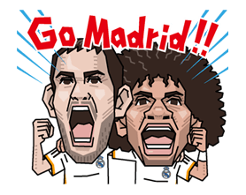 Real Madrid officiële Sticker 16
