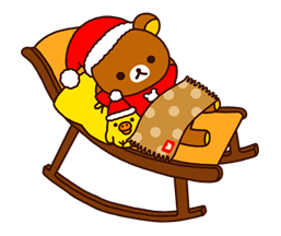 Rilakkuma Xmas New Year Sticker 50