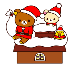 Rilakkuma Xmas New Year Sticker 53