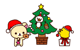 Rilakkuma Xmas New Year Sticker 54