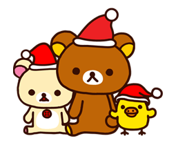 Rilakkuma Xmas New Year Sticker 55