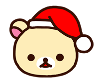 Rilakkuma Xmas New Year Sticker 58