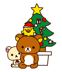 Rilakkuma Xmas New Year Sticker 62