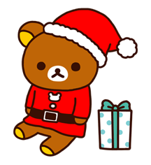 Rilakkuma Xmas New Year Sticker 64