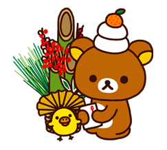 Rilakkuma Xmas New Year Sticker 6