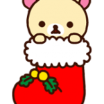 Rilakkuma Χριστούγεννα Πρωτοχρονιά αυτοκόλλητο 12