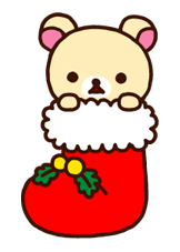 Rilakkuma Xmas New Year Sticker 12