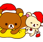 RILAKKUMA عيد الميلاد السنة الجديدة ملصق 16