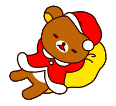 Rilakkuma Xmas New Year Sticker 18