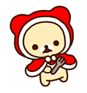 Rilakkuma Xmas New Year Sticker 19