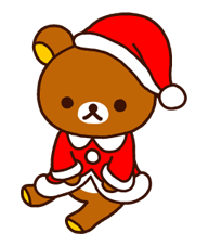 Rilakkuma Xmas New Year Sticker 20