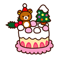 Rilakkuma Xmas New Year Sticker 28