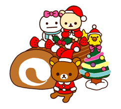 Rilakkuma Xmas New Year Sticker 29