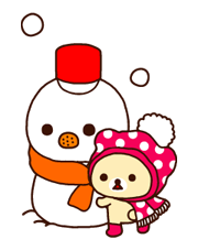 Rilakkuma Xmas New Year Sticker 32