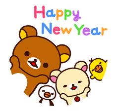 Rilakkuma Xmas New Year Sticker 37