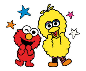 Sesame Street Happy Day Sticker