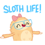 Slothilda Sloth Sticker 1