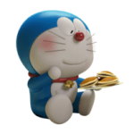 Beni Doraemon Sticker Stand By 2