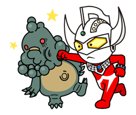 Héroes ULTRAMAN & Monsters etiqueta 18
