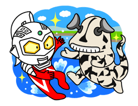 Ultraman Heroes & Monsters Sticker 35