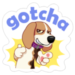 A Dog Dunia Sticker 22