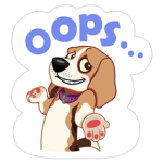 A Dog World Sticker 25