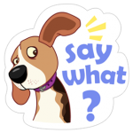 A Dog Dunia Sticker 26