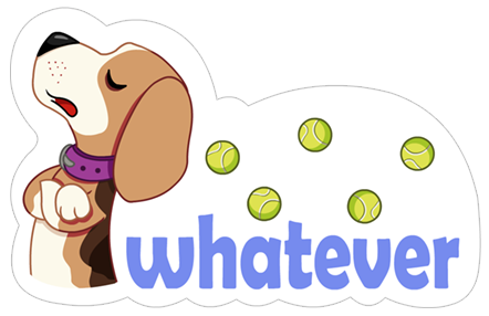 A Dog's World Sticker 27
