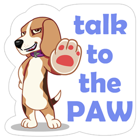 A Dog's World Sticker 2