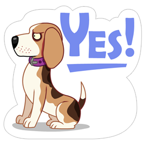 A Dog's World Sticker 19