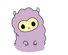 Little Ungu Llama Sticker 6