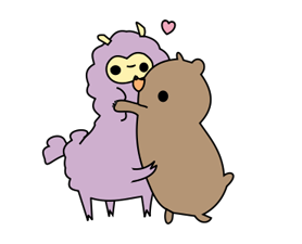 Little Purple Llama Sticker 7