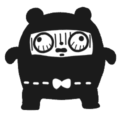 Ninja Bear Stickers 7