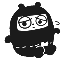 Ninja Bear Stickers 9
