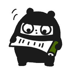 Ninja Bear Stickers 12