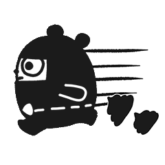 Ninja Bear Stickers 13