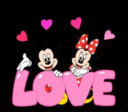 Lovely Mickey a Minnie Nálepky 4