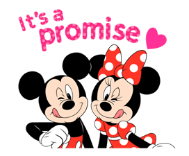 Lovely Mickey and Minnie Stickers 14