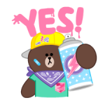 LINE Characters: Party Time Stickers 16