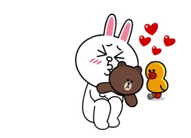 Brown & Cony a Lonely Hearts dátuma matricák 1