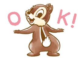 Chip 'n' Dale Fluffy Di chuyển Stickers 1