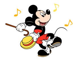Mickey Mouse Adhesius 5