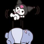 Kuromi स्टिकर 1