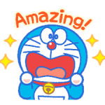 Doraemon's Everyday Expressions Stickers 1
