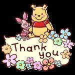 Winnie the Pooh hincha etiquetas del habla 1