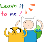 Déménagement Adventure Time 2 autocollants 1