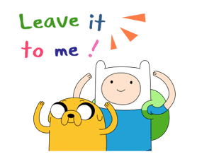 Moving Adventure Time 2 Stickers 1